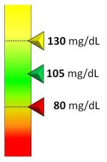 Blood glucose range