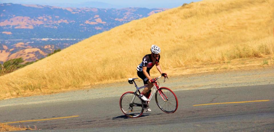 Riding up Mt Diablo