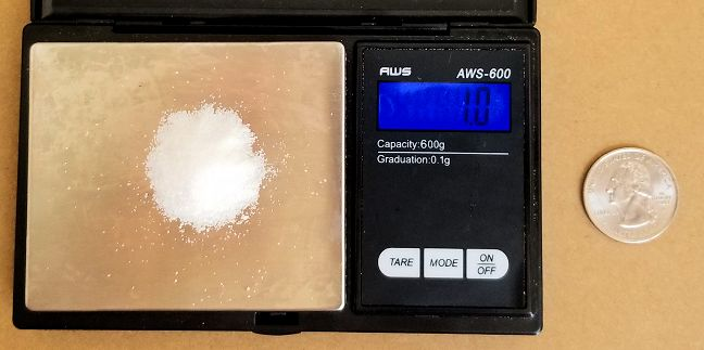 Scale with sugar